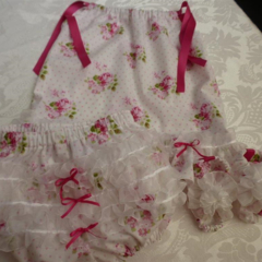 "Size 6 months - ""Sunshine Roses"" Dress, Pants and Shoes"