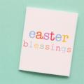 5 Mini Easter Gift Cards, Handmade Blank Gift Tags, Easter Blessings