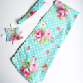 Teal Mums & Roses Baby Doll Carrier Carry Sling + Free mini Doll's Taggie