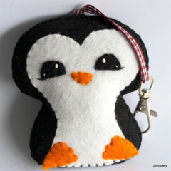 Cute Penguin Keyring or Bag Tag