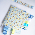 LITTLE TURTLES ~ BLUE ~ Security Blanket Blankie Taggie Toy + Taggie Saver