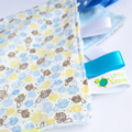 LITTLE TURTLES ~ BLUE ~ Security Blanket Blankie Taggie Toy + Taggie Saver