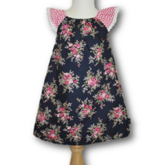 LAST ONE! ... SIZE 1 Navy Roses Dress - FREE POST