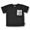 SIZE 4 Handmade Black T-Shirt with Robot Pocket