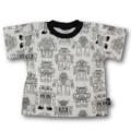 Handmade Robot Print T-Shirt - FREE POST