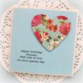 Handmade Vintage Birthday Card, Personalised Birthday Card For Her, Mum Card