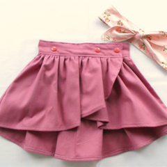 Tulip Wrap Skirt - Grape - Size 0