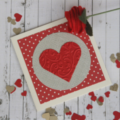 Red Heart Gift Card Valentine's Day Card LoveCard Wedding Card Anniversary Card