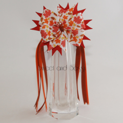 Pinwheel bow with streamers - various prints available