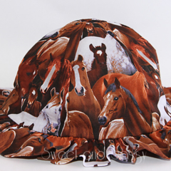 Horses Sun Hat. Size 4-8 years