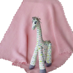 Baby blanket and soft toy - handmade for your princess