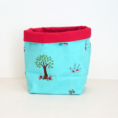 Little Woodlands Fabric Basket - small FREE SHIPPING