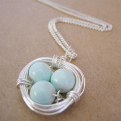 Nest Necklace - Duck Egg Blue