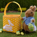 Embroidered EASTER BASKET (Yellow)