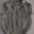 Size 00 Hand Knitted Baby Vest 