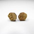 Pebble Geo Wooden Earring Studs