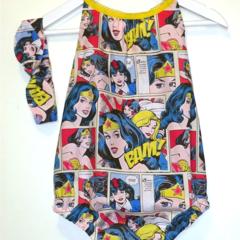Darling Playsuit / Romper + Headband set in Wonder Woman Size 1