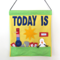 Weather Day Chart, Child's Wall Hanging Educational Toy
