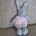 Maddy Bunny Hand knitted Easter Toy Softie