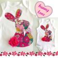 Bunny Rabbit Pretty Purple Baby Singlet Onesie Girls Bunny Tshirt