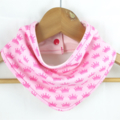 PRINCESS CROWNS Cotton Bandana bib Absorbent with STAY-DRY backing