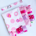 HELLO KITTY DOTS  Baby  Security Blanket Blankie Taggie Toy + Free Taggie Saver