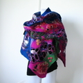 Felted Scarf Wrap Shawl Felt Art
