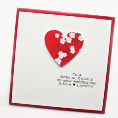 Wedding card | Personalised | Oriental Red Heart | Bride Groom