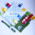 GREEN VINTAGE CARS Security Blanket Taggie Toy+ Dummy/Sophie/Taggie Saver