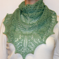 Hand Knitted Women's Lace Shawl