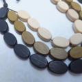 Wood Beaded Necklace - khaki