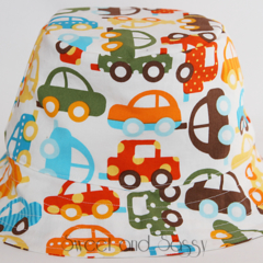 Cars Bucket Hat. Sizes 12-24 months - 4-10 years