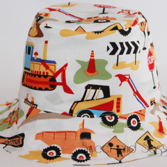 Construction Bucket Hat. Size 3-6 months