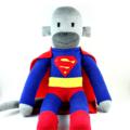'Superman' the Sock Monkey (Superhero) - *MADE TO ORDER*