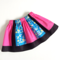 Size 1, 2 OR 3 Retro Overlapping Circles Pattern Colour Skirts, 100% Cotton