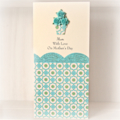 MUM Happy Mother's Day card roses vase turquoise