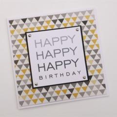 Happy Happy Happy Birthday - Handmade Card