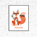 Custom Name Wall Decor - Woodland Fox