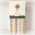 MUM Happy Mother's Day card roses vase turquoise hot pink and yellow