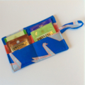 Paper Crane Tea Wallet with orange pocket