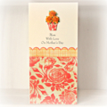 Personalised Mother's Day card | Orange Paper Roses | Custom Made