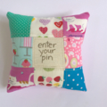 mini patchwork pin cushions
