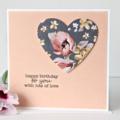 Handmade Birthday Card, Birthday Card For Her, Mum Card, Sister, Magnolia