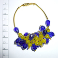 Cobalt and lime bracelet