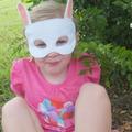 White Rabbit Felt Mask
