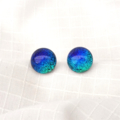 Fused Dichroic Glass Stud Earrings