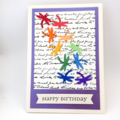 Birthday Card - Dragonfly cascade