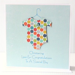 Personalised Christening Baptism Naming Day Card | Baby Boy Newborn | Spots