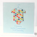 Personalised Christening Baptism Naming Day Card | Baby Boy Newborn | Spots