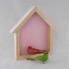 Birdhouse Shelf -  Fairy Floss Pink